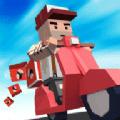 摩托骑士快递员